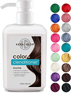 Keracolor Clenditioner Hair Dye (18 COLORS) Color Depositing Conditioner Colorwash, Semi Permanent, Vegan and Cruelty-Free