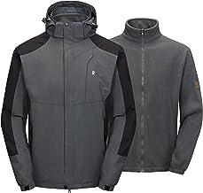 Little Donkey Andy Men's 3 in 1 Winter Ski Jacket Warm Fleece Liner Jacket Waterproof Windproof Snow Coat & Detachable Hoo...