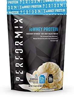 Performix ioWHEY Protein, 100% Whey Isolate Protein, Quick Absorption, 22g Protein, Low Carb, No Sugar (18 Servings, Vanil...