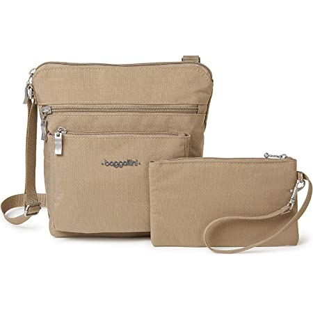 Baggallini Pocket Crossbody Bag With RFID-Protected Wristlet, Beach