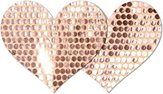 Nippies Re-Style Rose Gold Reusable Heart Self Adhesive Nipple Cover Pasties