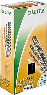 LEITZ 35043 - Canutillos de plástico DIN A4 21 anillas. (caja 100 ud.) 12 mm/ 105 hojas color negro