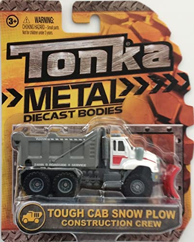 Tonka Metal Diecast Bodies - 4-inch Tough Cab Snow Plow Truck 1 55 Scale - Construction Crew by Tonka
