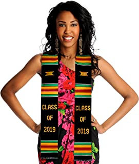 Class of 2019 Kente Cloth Graduation Stole. Look Amazing on Your Grad Day