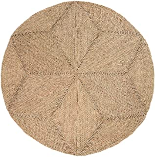 100% Natural Hand Woven Jute Round Area Rug, Natural Round Jute Rug, Farmhouse Style Braided Kitchen Area Rug, Grass Rug f...