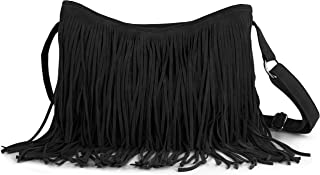 Best black suede purse with fringe Reviews