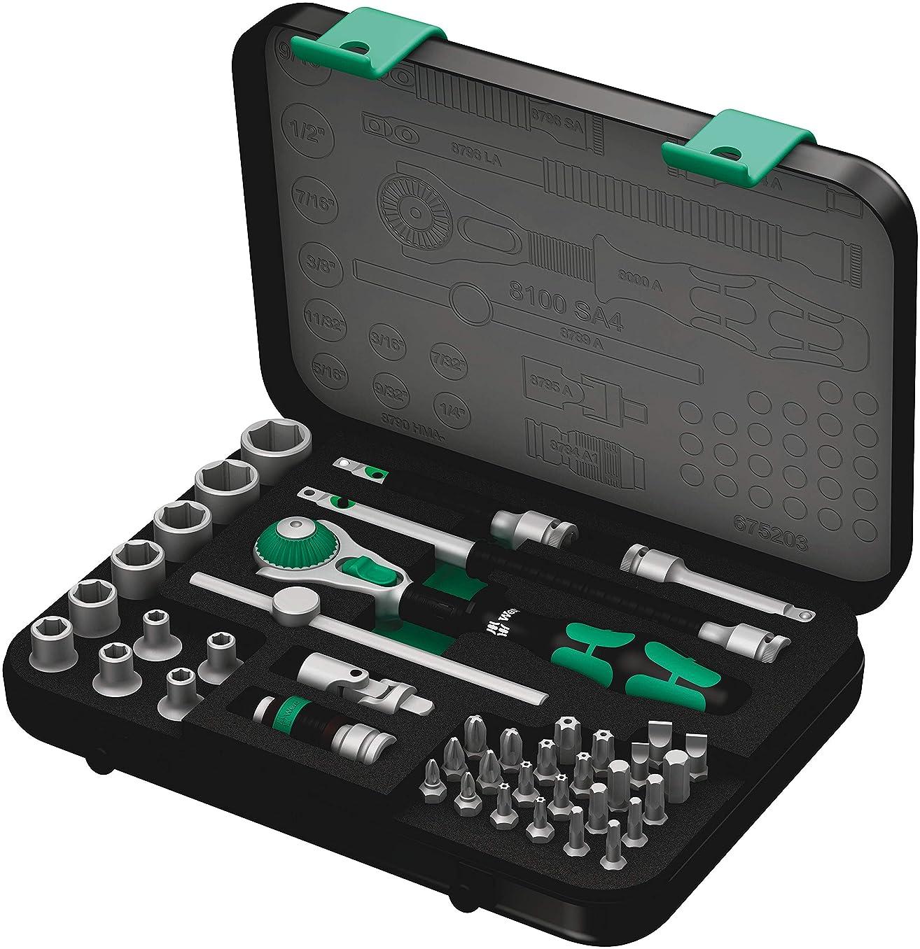 Wera 8100 SA 4 Zyklop Ratchet Set with 1/4