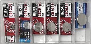 Sherco-Auto 16 Piece 3 Volt Lithium Cell Coin Battery Remote Key Fob Assortment Kit - 8 Popular Automotive Car Truck Key Batteries