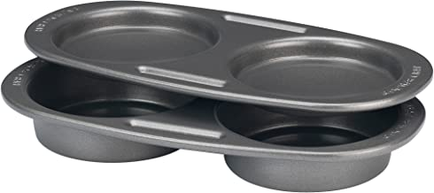 Rachael Ray Yum-o! Nonstick Bakeware Slider Mold, Gray with Orange Grips