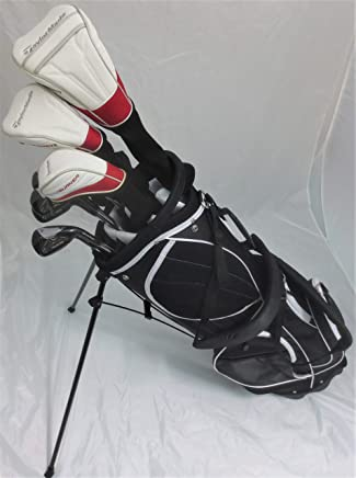 TaylorMade Golf Set Complete - Driver, Fairway Wood, Hybrid, Irons, Putter, Stand Bag Regular Flex
