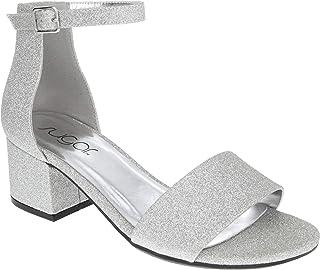 84ab3547f4 Amazon.com: Silver Women's Heeled Sandals