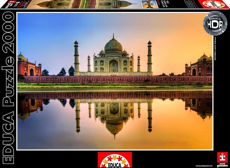 Educa 14821 - Taj Mahal, Indien-HDR-Puzzle, 2000 Teile