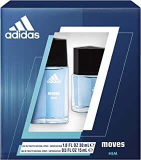 Adidas, Moves for Him, 2 Piece EDT Gift Set, Total Retail Value $30.00