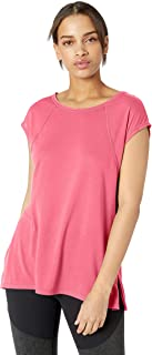 CALVIN KLEIN Performance Women's Cap Sleeve Tee with Strappy Back