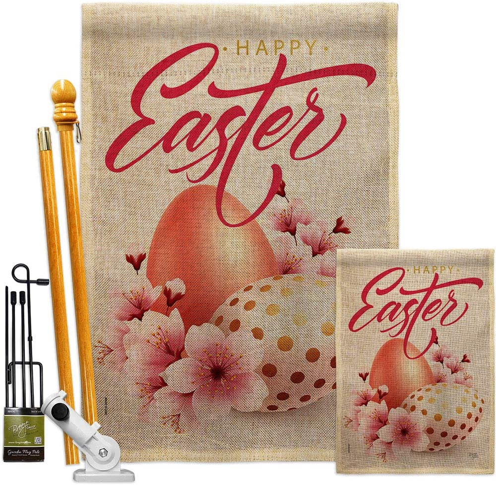 Breeze Ranking TOP7 Decor Easter Blooming Burlap Spring Garden House Flag Kit trend rank