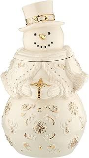 lenox holiday snowman cookie jar