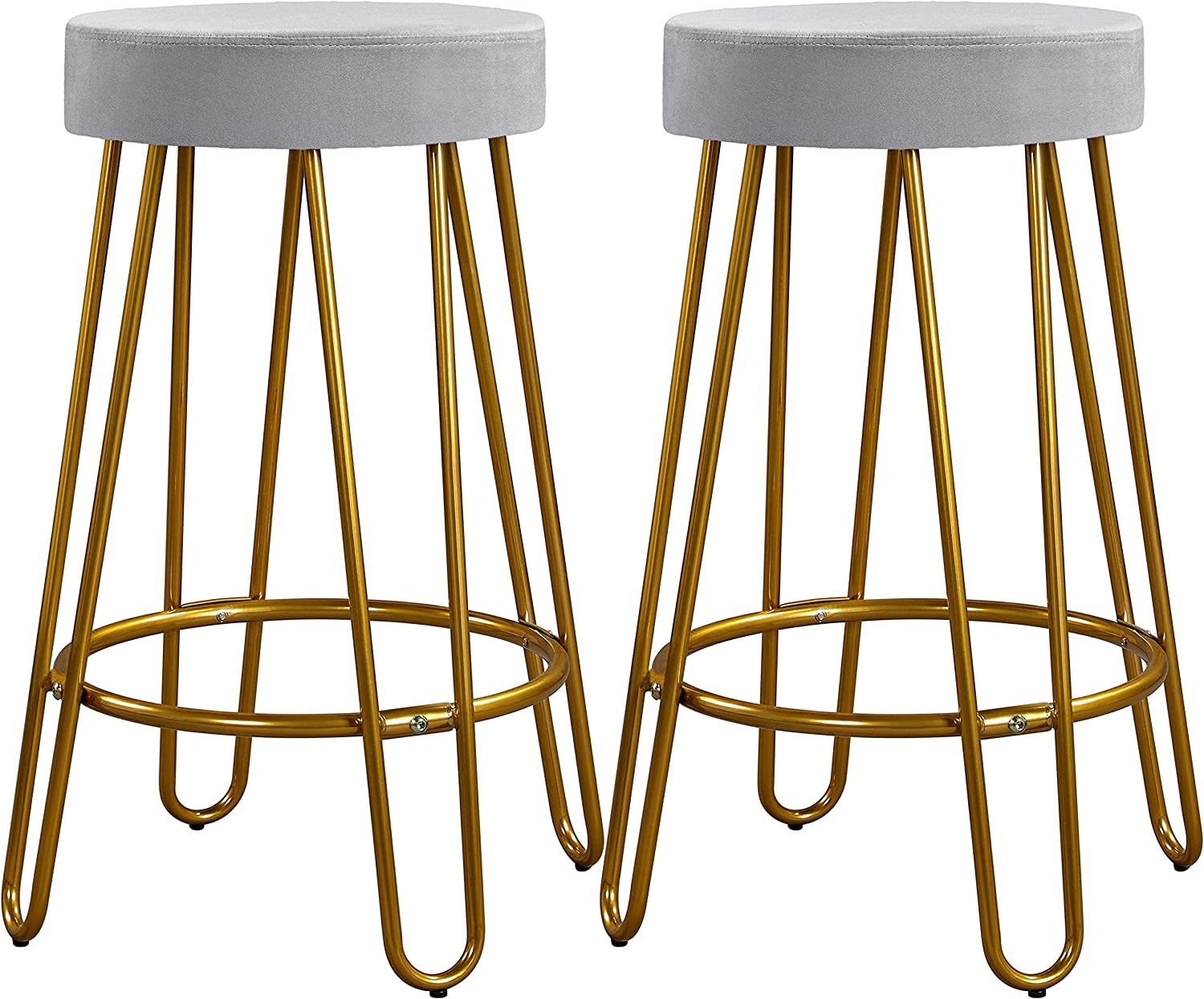 5 popular Yaheetech 26.5inch Living Room Long Beach Mall Backless Round Stools Upholstered