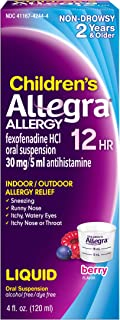 Allegra Children's Allergy Relief Berry Flavor - 4 oz, Pack of 3