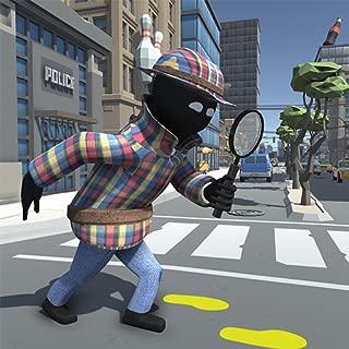 Stickman Detective - Super Rope Hero Game