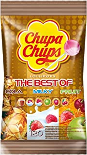 Chupa chups Best of Lollipops Bag, Iconic Classic, 120 Pieces