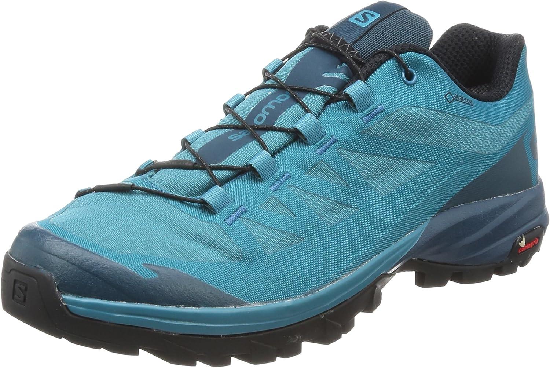 Salomon Damen Outpath GTX W Trekking-  Wanderhalbschuhe, blau, 7 UK