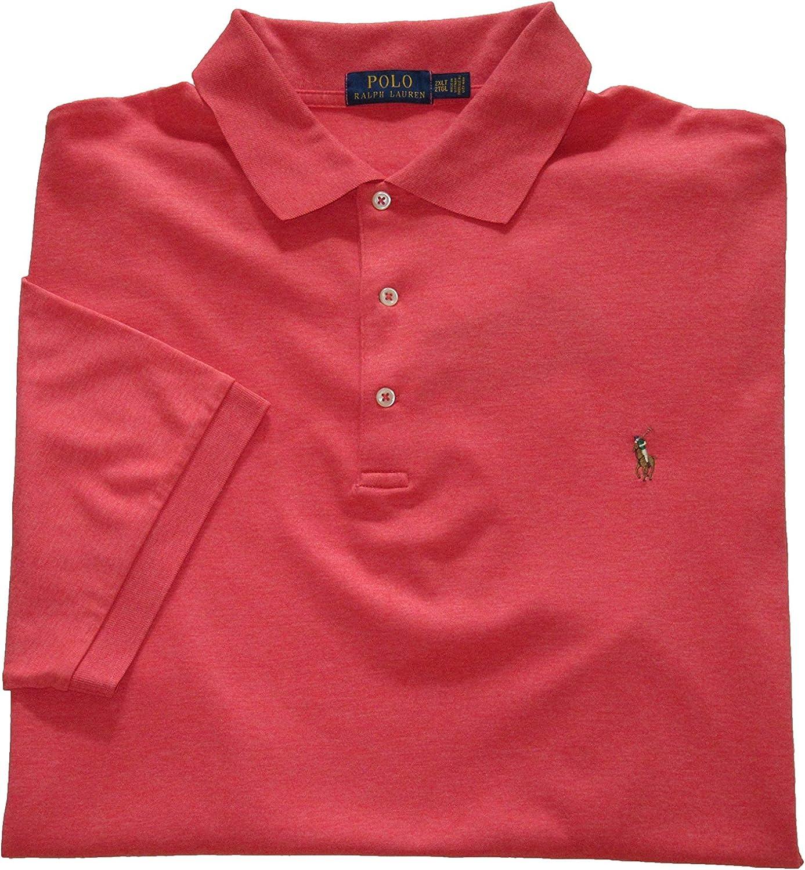 Ralph Lauren Polo Mens Big and Tall Soft-Touch Interlock Polo Shirt