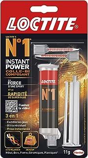 Loctite N°1 Instant Power, colle époxy pour la plupart des matériaux, colle rapide multi-usages, colle transparente et trè...