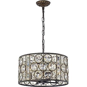 Warehouse Of Tiffany Imp79w 4ab Rowsen 4 Light Antique Bronze Metal Chandelier Amazon Com