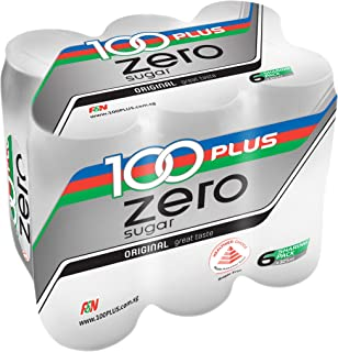 100 Plus Zero Sugar, 325ml (Pack of 6)