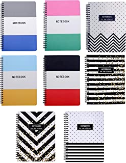 $22 » Sponsored Ad - Yansanido 8pcs (A5) Spiral Notebooks Journals Planner 6x8 Inch College Ruled Lined Notebooks White Paper fo...