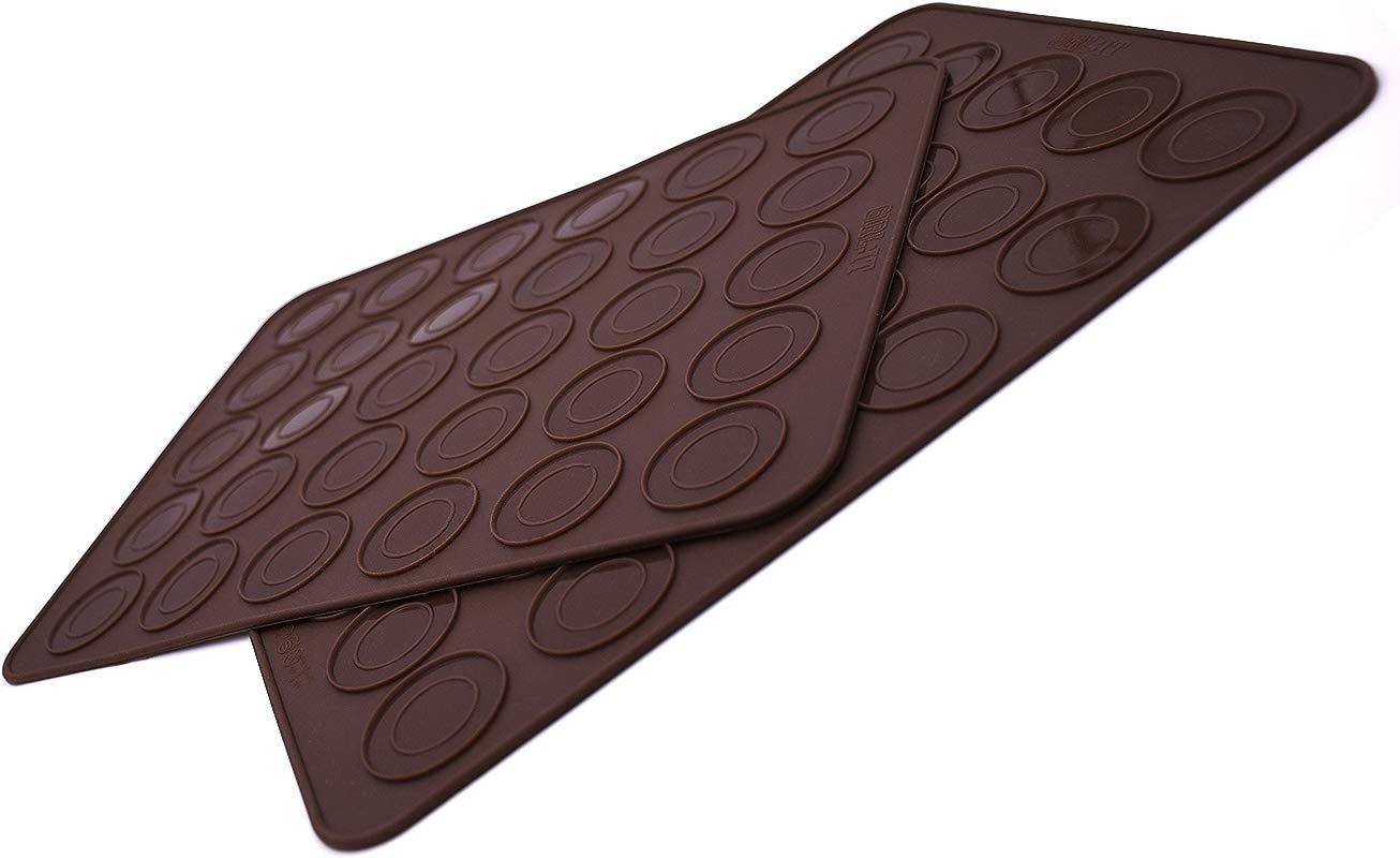 Macaron Silicone Baking Mat Set Of 2 Silicon Macaroon Baking Sheet Non Stick