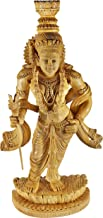 Stylized Dancing Lord Krishna - Cedar Wood from Trivandrum (Kerala)