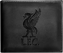 Liverpool FC - Geldbörse mit geprägtem Vereinswappen - Offizielles Merchandise - Geschenk für Fußballfans - Schwarz