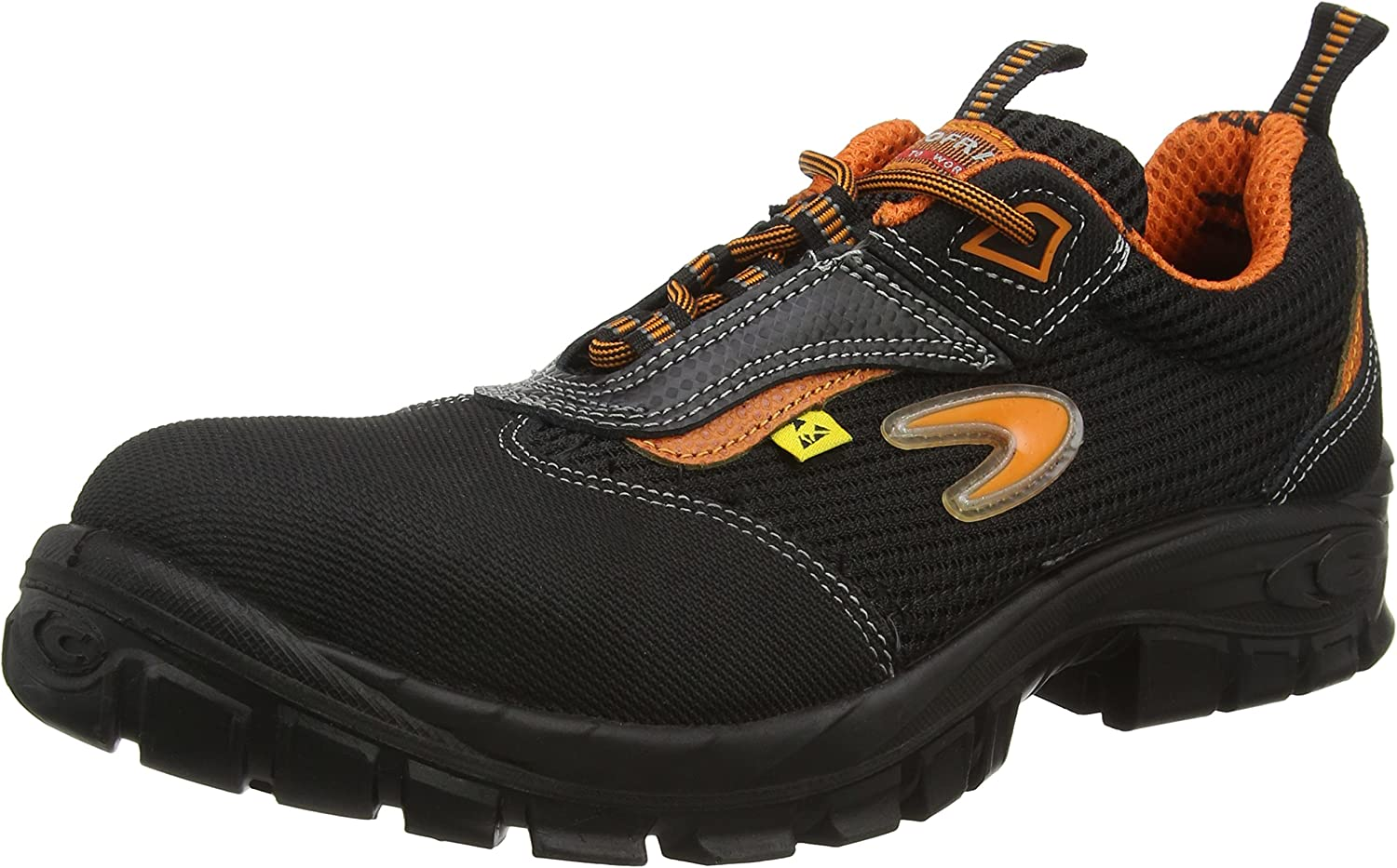 Cofra 13000-000.W42 Size 42 S1 P ESD SRC  Aegir  Safety shoes - Black orange - EN safety certified