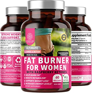 N1N Premium Fat Burner for Women [7 Potent Ingredients] All Natural Thermogenic Weight Loss Pills, Suppresses Appetite, Bo...