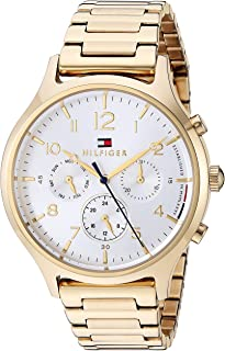 Tommy Hilfiger Women's Quartz Watch with Stainless Steel Strap, Yellow, 17.5 (Model: 1781872)