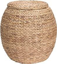 Household Essentials Ml-4105 Barrel Storage Tub W-Lid | Water Hyacinth