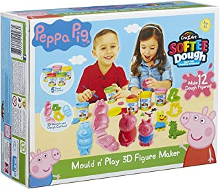 Peppa Pig Mold And Play Action Figure Set Works with Play Doh Ages 3+ Make your own Peppa!
