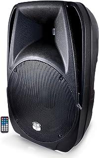 BM Sonic Wave Enceinte ABS Active 900 W Boomer 38 cm avec Télécommande USB/SD/Bluetooth Noir