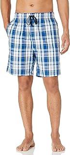 Nautica Men's Soft Woven 100% Cotton Elastic Waistband Sleep Pajama Shorts, Light Haze, Medium