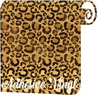 Leopard Skin Pattern Adhesive Vinyl - 12
