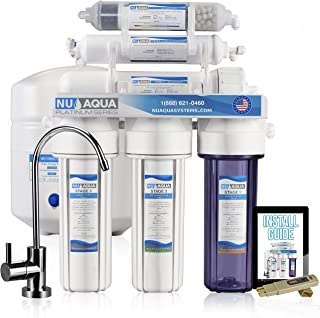 NU Aqua Platinum Series 100GPD Under Sink Reverse Osmosis Drinking Water Filtration System – Premium Water Filter (6 Stage Alkaline)