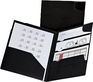 Oxford Divide it Up, 4 Pocket Folder, Black, Letter Size (99802)
