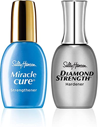 Sally Hansen Diamond Strength Instant Nail Hardener and Sally Hansen Miracle cure Nailcare Kit, Value Pack