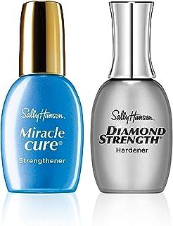 Sally Hansen Diamond Strength Instant Nail Hardener and Sally Hansen Miracle, Nailcare Kit, 2 Count Nail Hardener + Miracl...