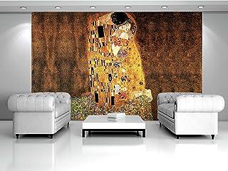 Delester Design - Vinilo con diseño de El Beso de Gustav Klimt, para decoración de Pared, Multicolor, 0,1 x 152,5 x 104 cm