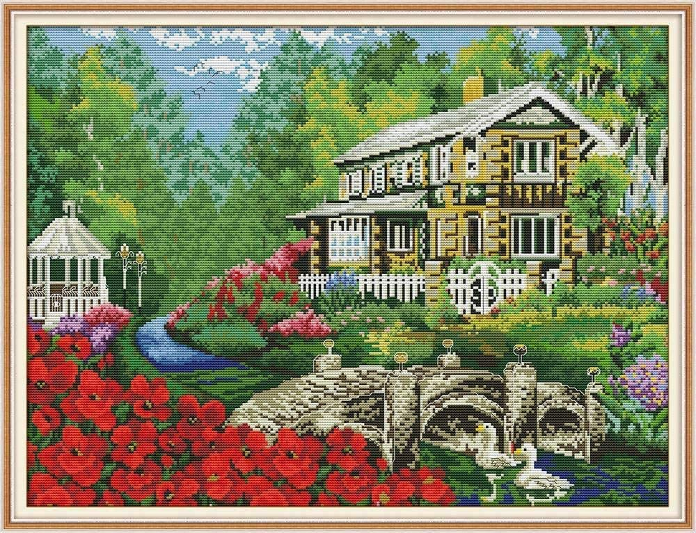 ZSZXMZ Raleigh Mall Stamped Cross Stitch Spring new work Kit Crafts DIY Kits Embroidery Fores