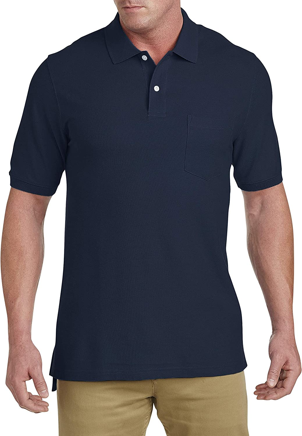 Harbor Bay by DXL Big and Tall Pocket Pique Polo (XL-Tall