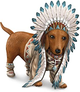 Chief Barks A Lot Dachshund Figurine with Wild West Outfit by The Hamilton Collection