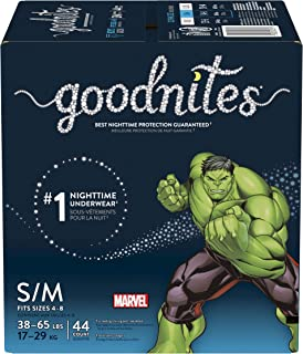 Goodnites Goodnites Bedwetting Underwear for Boys, S/m, 44 Ct, Size 4-Boy, 44 Count